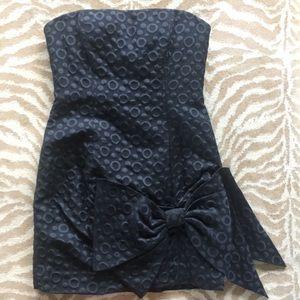 {8} BCBG Max Azria Strapless Little Black Dress